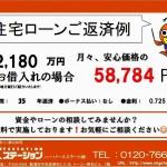 新潟市西区立仏の新築住宅の住宅ローン返済例