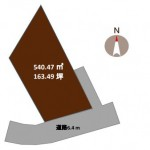 新潟市西区大野町の土地の敷地図