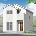 新潟市江南区曽野木の新築住宅の外観完成予定パース