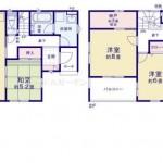 阿賀野市曽郷の新築住宅の間取り図