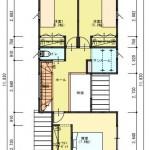 新潟市東区上木戸の土地の建物プラン例の2階間取り図