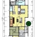 新潟市東区上木戸の土地の建物プラン例の1階間取り図