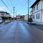 長岡市蓮潟の土地の写真(前面道路)