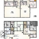 新潟市秋葉区善道町の新築住宅の間取り図