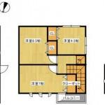 新潟市東区船江町の新築住宅の間取図