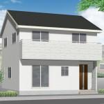 新潟市西区立仏の新築住宅の外観完成予定パース