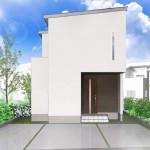 新潟市東区上木戸の土地の建物プラン例の外観パース