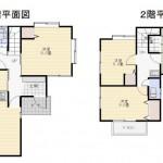 新潟市東区松崎の中古住宅の間取図