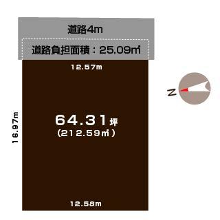 新潟市秋葉区荻島の土地の敷地図