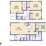 新潟市江南区曽野木の新築住宅の区画図