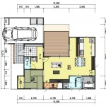 新潟市秋葉区荻島の建物プラン例の1階間取り図
