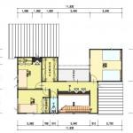 新潟市秋葉区荻島の建物プラン例の2階間取り図