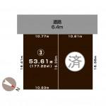 上越市春日野の土地の敷地図(敷地図)