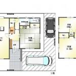 新潟市東区東明の中古住宅の間取り図