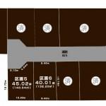新発田市月岡温泉の土地・分譲地の敷地図
