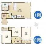 燕市吉田本所の新築住宅の間取図