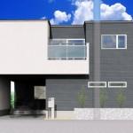 新潟市中央区女池の土地の建築プラン例(区画1)の外観パース