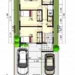 新潟市西区小針南土地の建物プラン例(配置図)