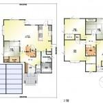 新潟市秋葉区新津東町の中古住宅の間取り図