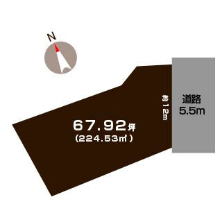 新潟市秋葉区田家の土地の敷地図