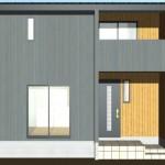 燕市小高の新築住宅の外観パース