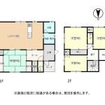 三条市東大崎の中古住宅の間取図(※図面と現況に相違がある場合は、現況を優先します。)