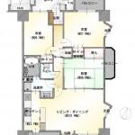 新潟市中央区南笹口の中古マンションの間取り図