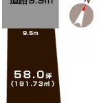 新潟市東区山の下町の土地の敷地図