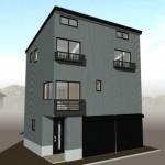 三条市石上2丁目の新築住宅の外観パース