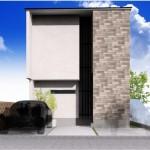 新潟市西区小針南土地の建物プラン例(外観パース)