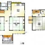 新潟市北区松浜の中古住宅の間取図