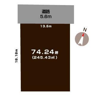 新潟市西区坂井東の土地の敷地図