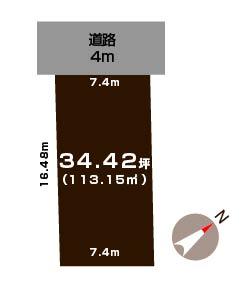 新潟市西区小針南の土地の敷地図