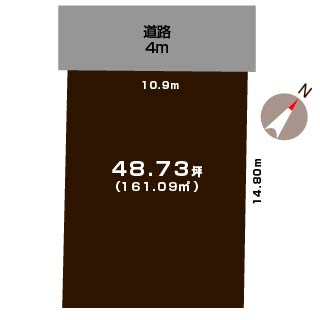 新発田市舟入町の土地の敷地図