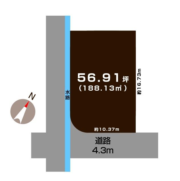 三条市西大崎の土地の敷地図