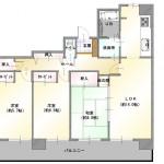 新潟市東区中島の中古マンションの間取り図