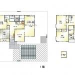 新潟市東区新石山の中古住宅の間取り図