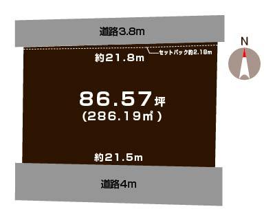 新潟市南区白根日の出町の土地の敷地図