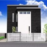 江南区北山の土地の建物プラン例(区画2)の外観パース