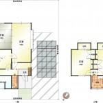 新潟市中央区山二ツの中古住宅の間取図