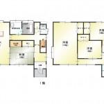 新潟市中央区親松の中古住宅の間取図