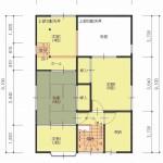 長岡市関原南の中古住宅の間取図(間取)