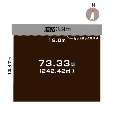 新潟市北区松浜新町の土地の敷地図