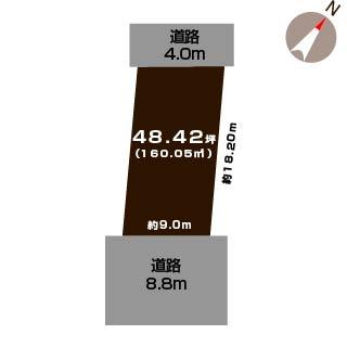 新潟市西区坂井の土地の敷地図