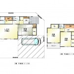 新潟市中央区鳥屋野南の中古住宅の敷地図