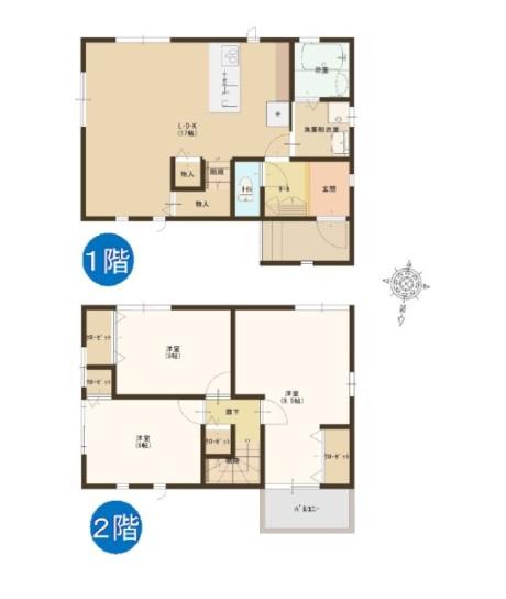 燕市吉田神田町の新築住宅の間取図