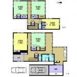 新潟市西蒲区巻乙の中古住宅の間取図