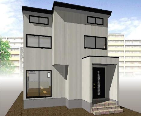 三条市一ノ門の新築住宅の写真(外観パース)