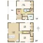 燕市殿島の新築住宅の間取図