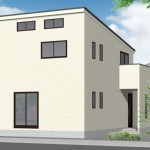 燕市吉田神田町の新築住宅の外観パース